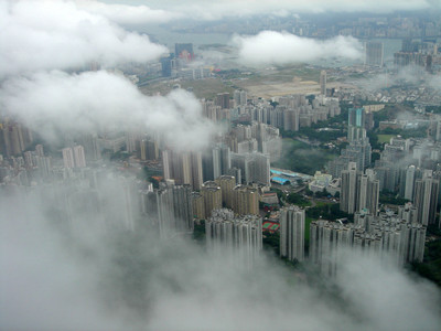 City_through_the_clouds